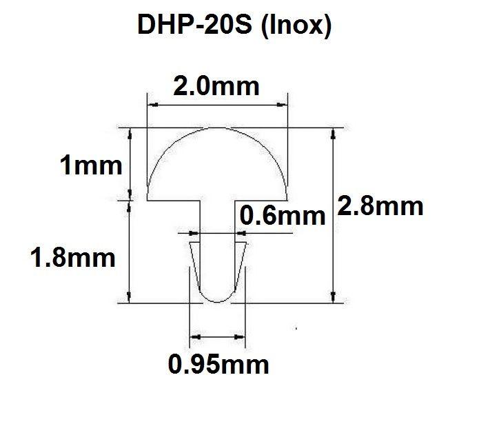 Traste Inox DHP-20S médio para cavaco/violão/guitarra - 1,0mm (altura) x 2,0mm (largura) - Rolo com 10 metros  - Luthieria Brasil