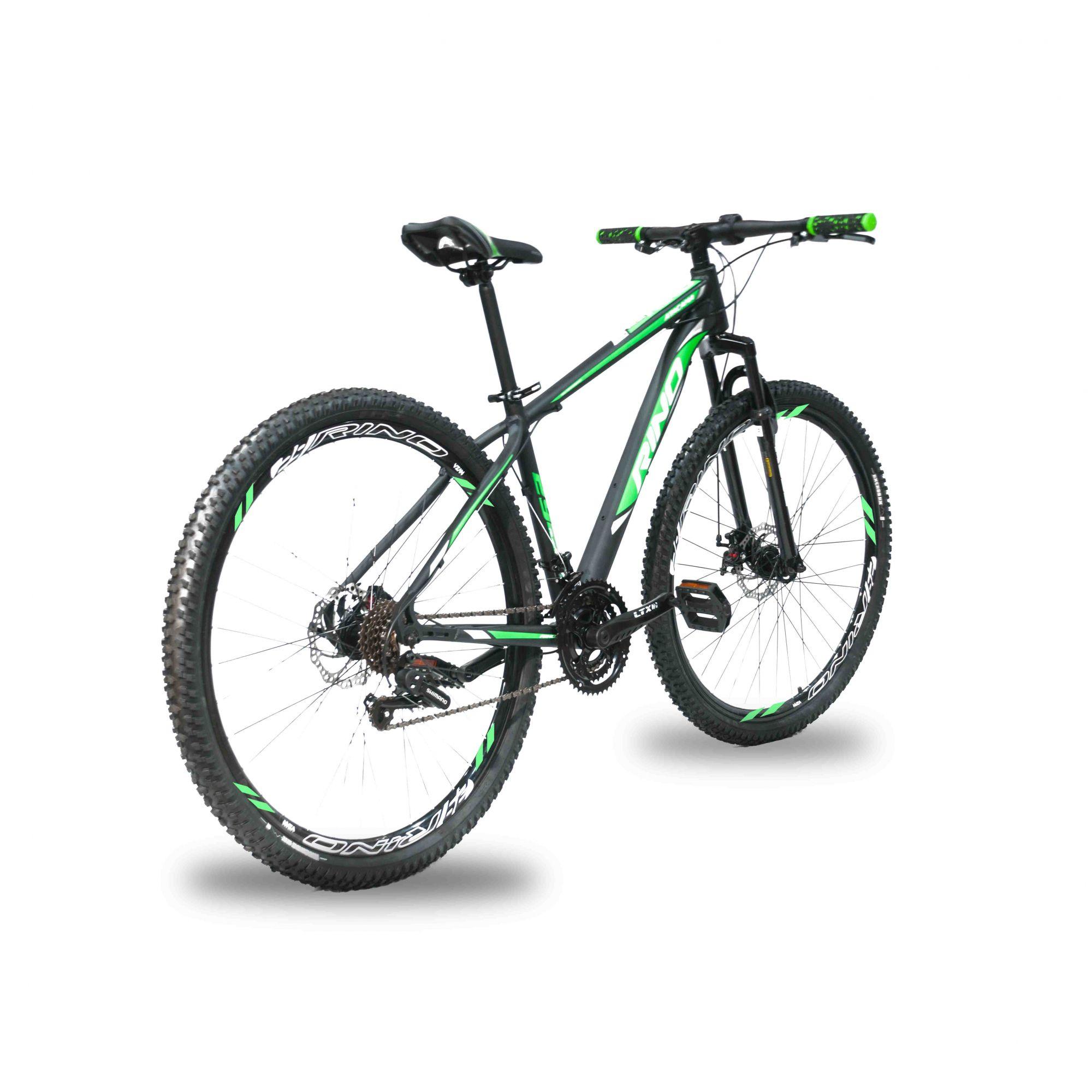 5dabb2a3f ... Bicicleta RINO câmbios Shimano COMPLETO aro 29 freio a disco 21 Marchas  2.0 - Extremebike ...