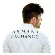 Camisa Social PRINT - POÁ Armani Exchange Branca