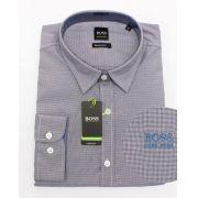 Camisa Social HB Mini Xadrez Marinho
