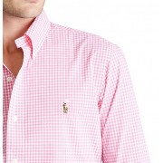 Camisa Social Mini Xadrez RL Rosa - Color