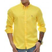Camisa Social RL Amarela Colored - Custom Fit