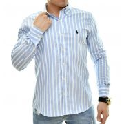 Camisa Social RL Oxford Listras - Custom Fit