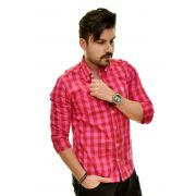 Camisa Social RL Xadrez Pink - Custom Fit