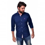 Camisa Social SK Marinho / Pink