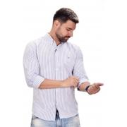 Camisa Social TH Listras Azul