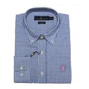 Camisa social Xadrez Azul RL Ry