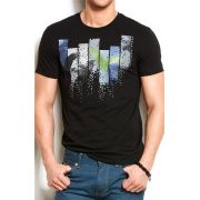 Camiseta Armani Exchange Eagle block Preta
