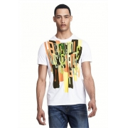 Camiseta AX exploded Branca - Slim fit