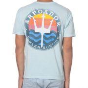 Camiseta Osklen Brasão Azul Claro