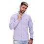 Camisa Social ABR Oxford Azul