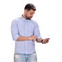 Camisa Social Hollister Azul Claro