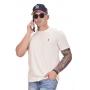 Camiseta Basic Ralph Lauren Off white / Lilas