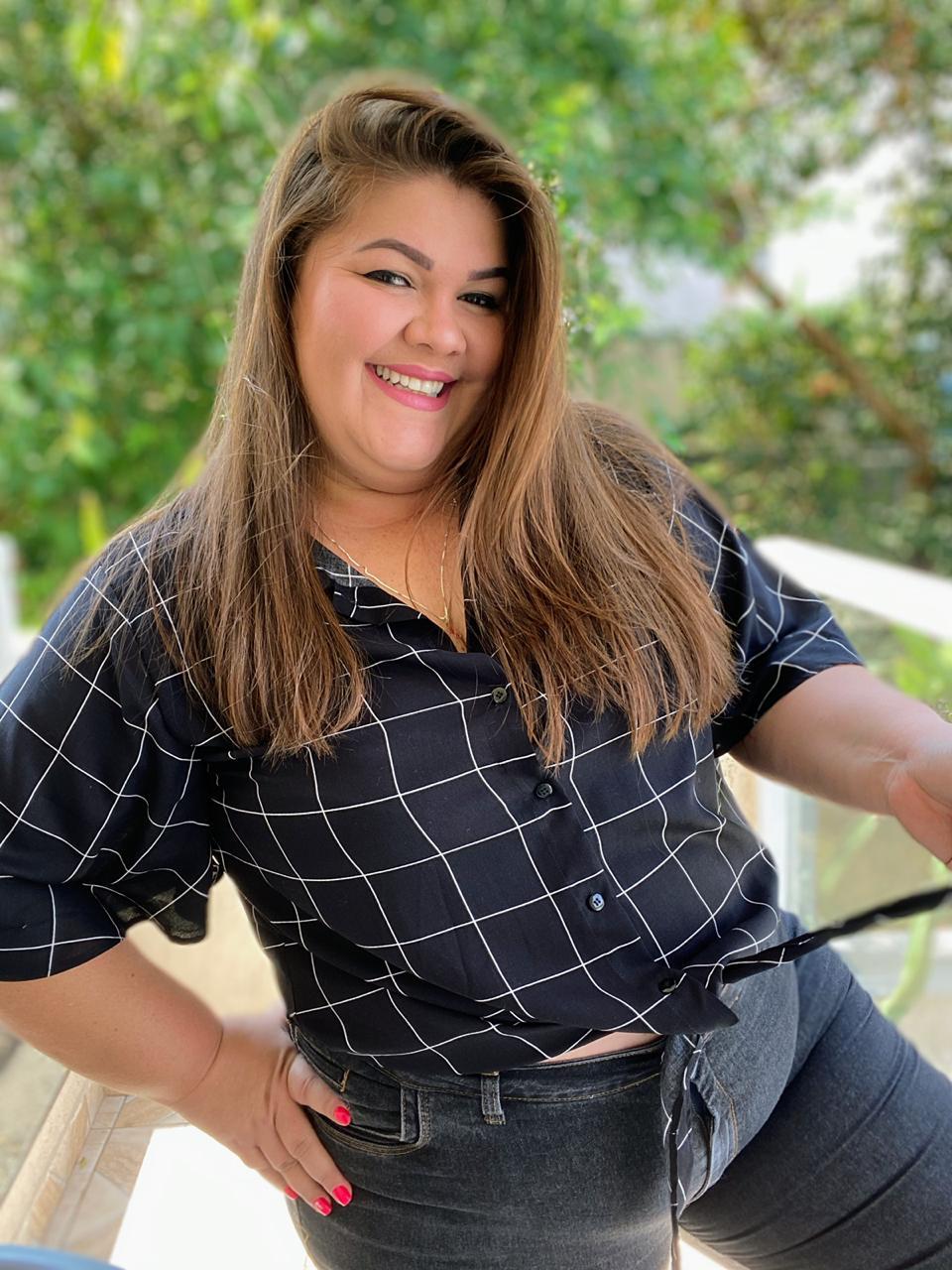 Camisa Blusa Plus Size de Viscose  - Ca Brasileira