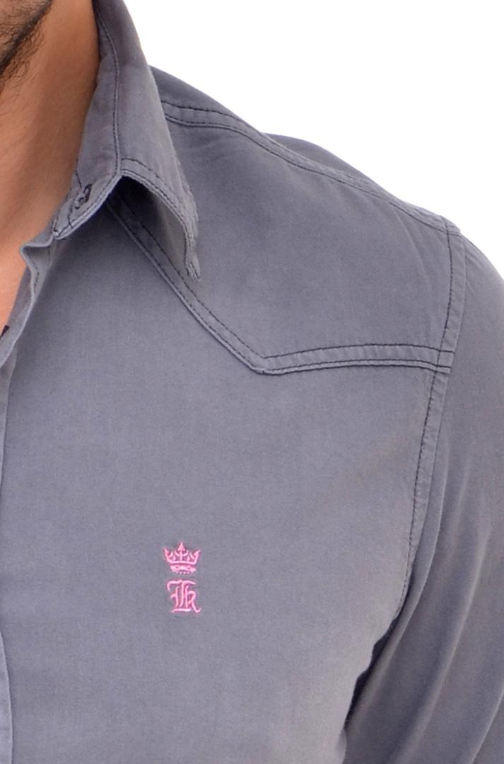 Camisa Jeans Cinza LR   - Ca Brasileira