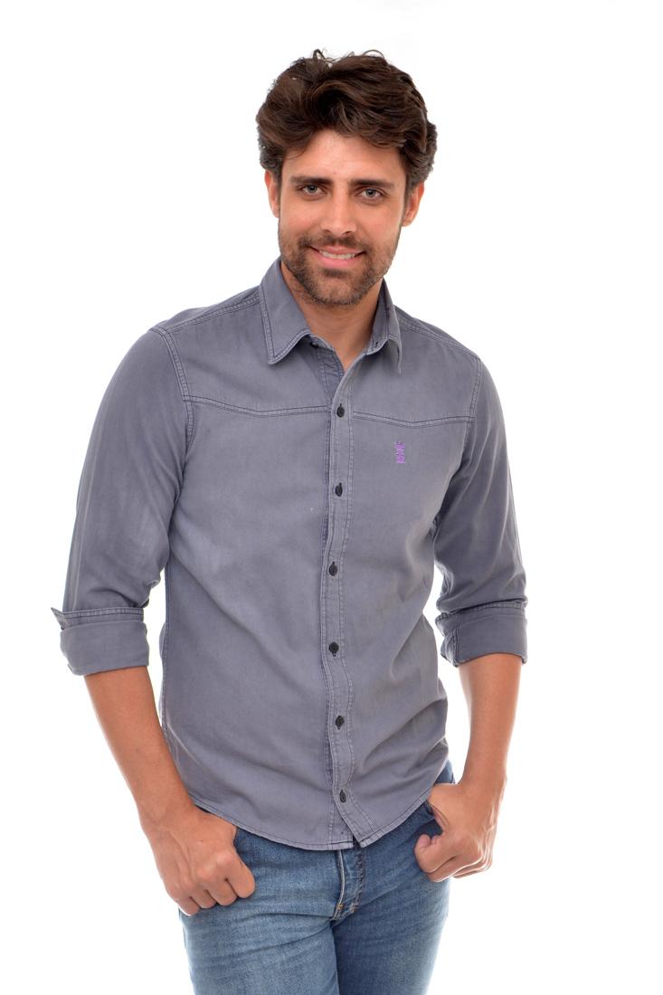 Camisa Jeans Cinza R