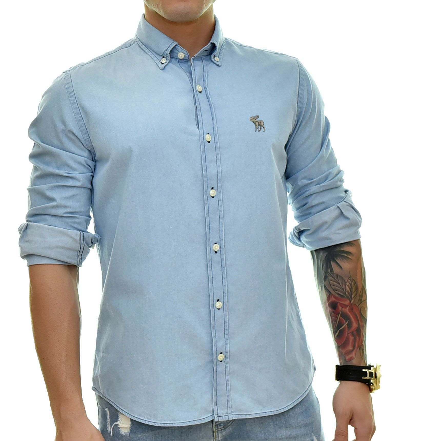 Camisa Jeans Claro ABR
