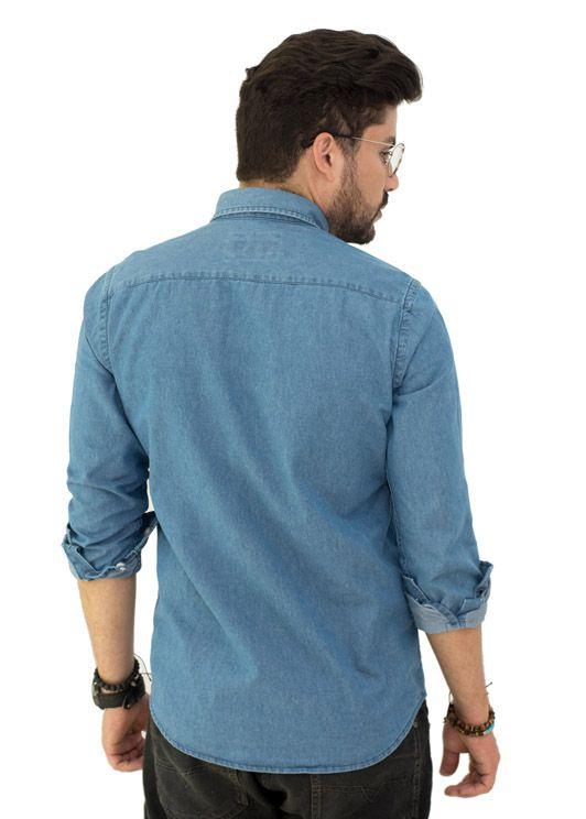 Camisa Jeans Delave LCT   - Ca Brasileira