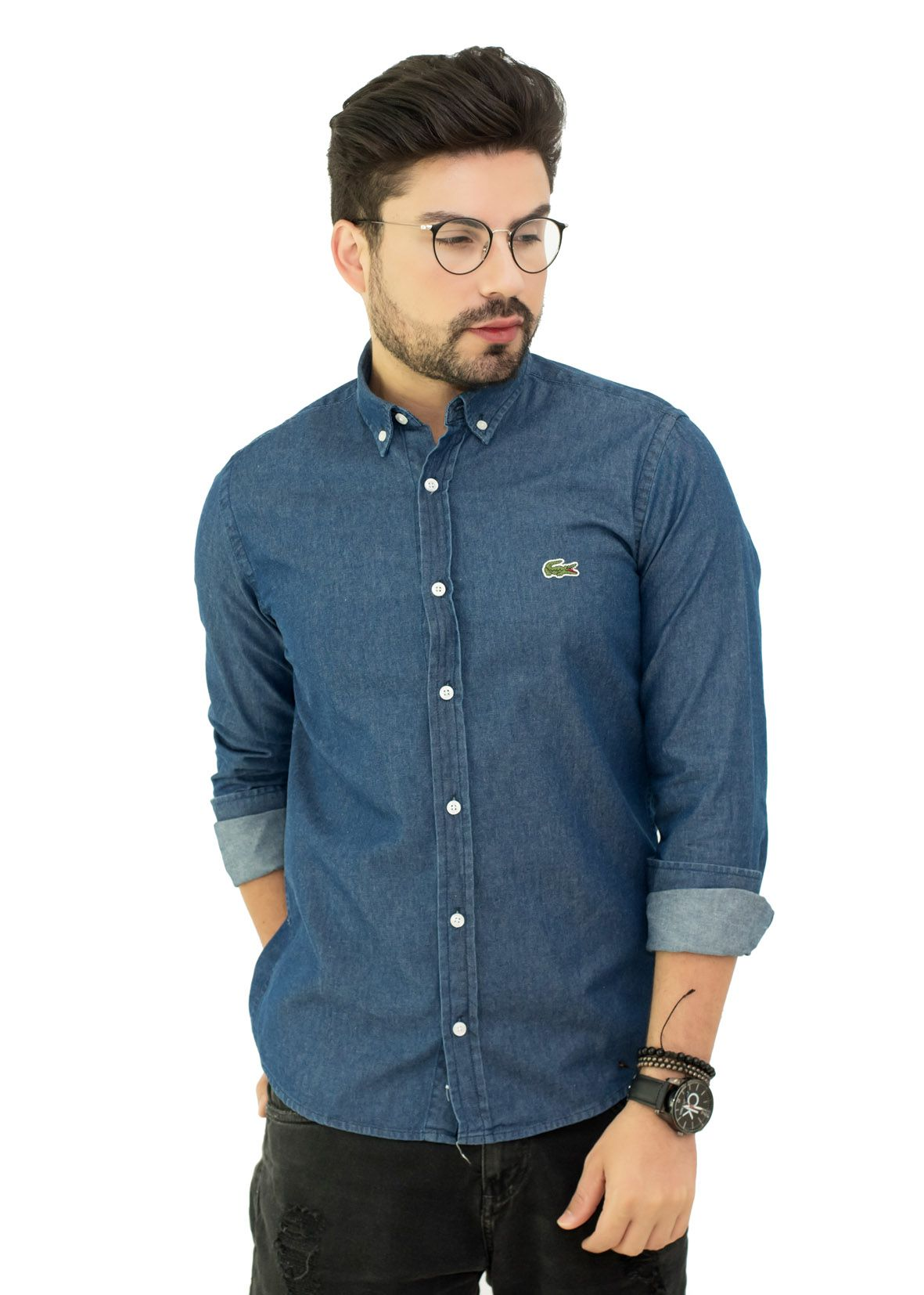 Camisa Jeans LCT Azul Escuro