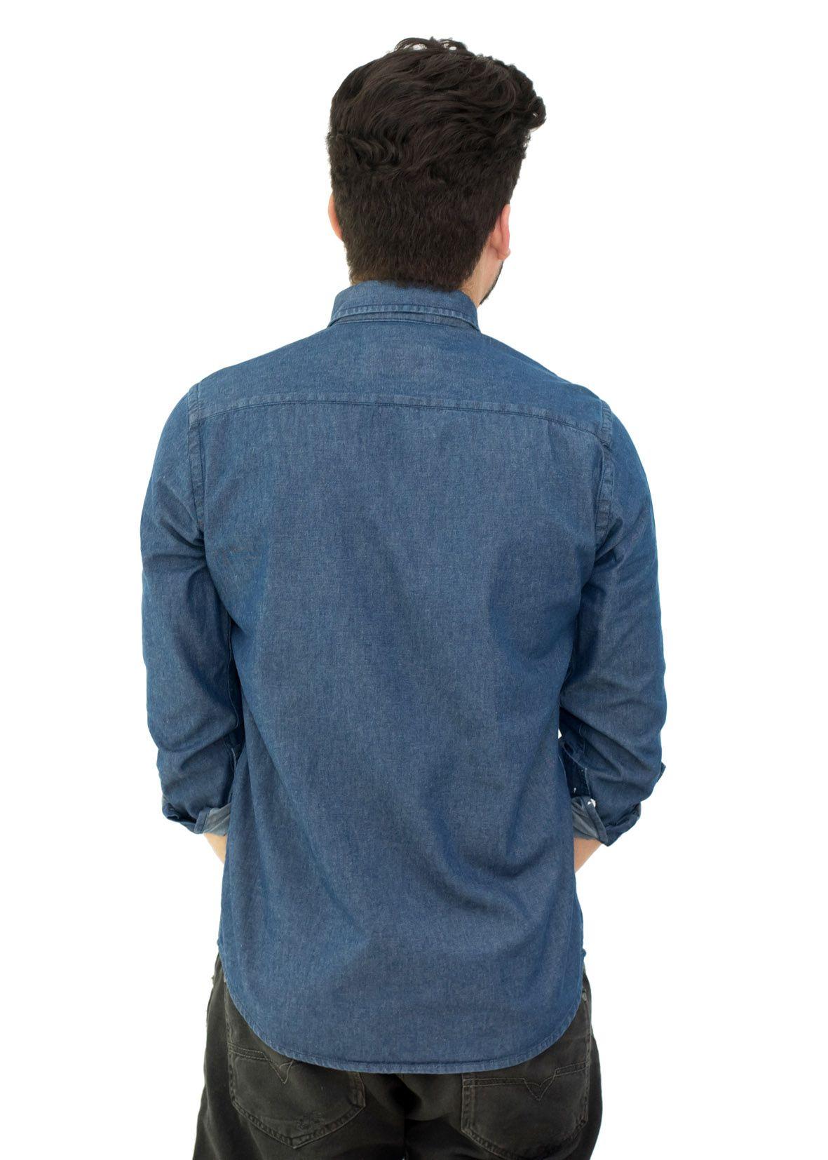 Camisa Jeans LCT Azul Escuro  - Ca Brasileira