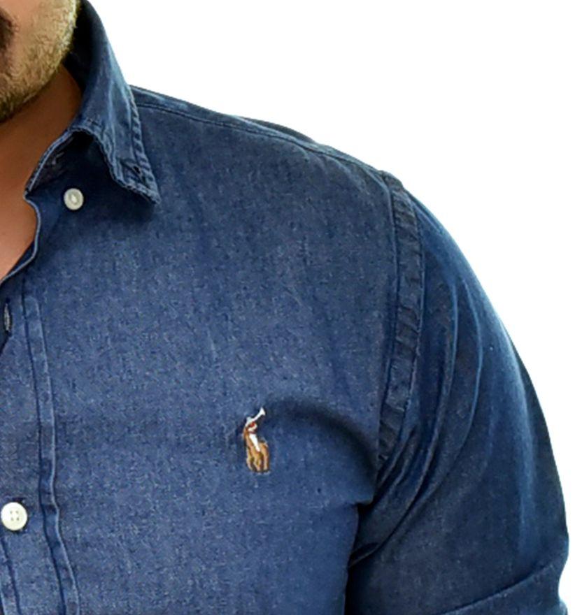 Camisa Jeans RL Stone  - Custom Fit  - Ca Brasileira