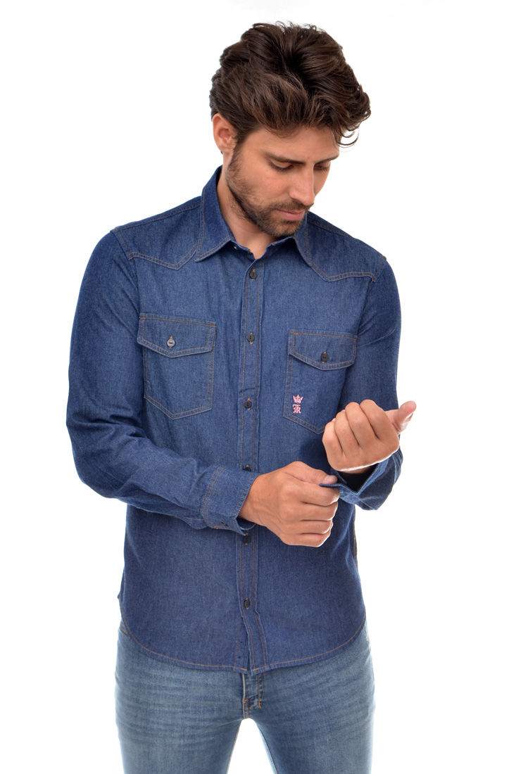Camisa Jeans SK Bolsos