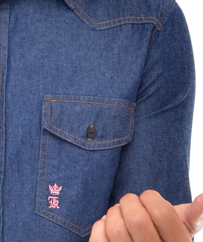 Camisa Jeans SK Bolsos  - Ca Brasileira
