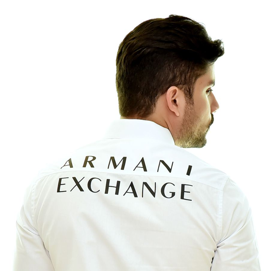 Camisa Social Print AX Branca