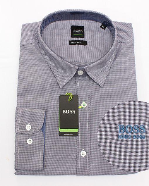 Camisa Social HB Mini Xadrez Marinho  - Ca Brasileira