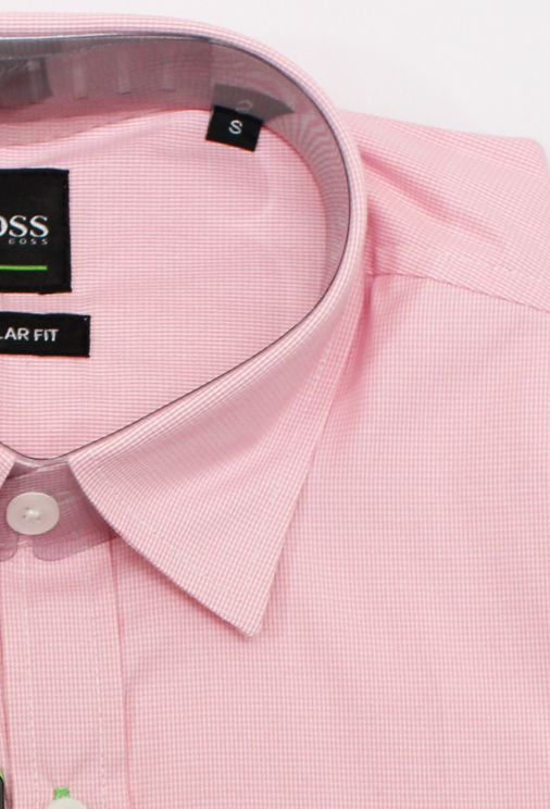 Camisa Social HB Mini Xadrez Rosa  - Ca Brasileira