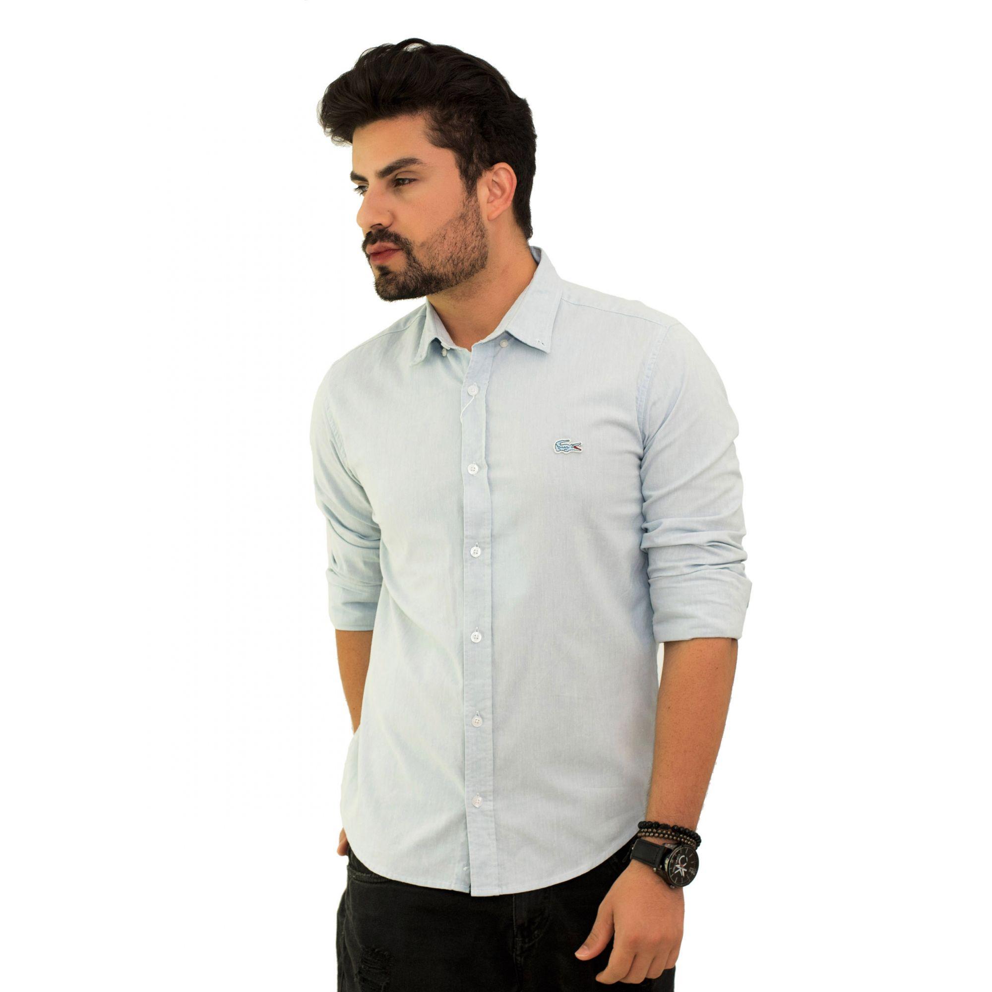 Camisa Social LCT Oxford Azul Claro