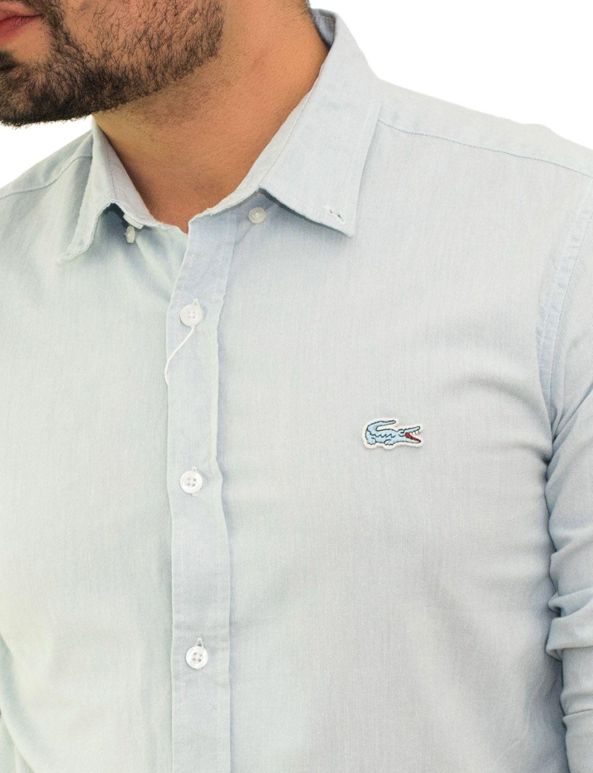 Camisa Social LCT Oxford Azul Claro  - Ca Brasileira