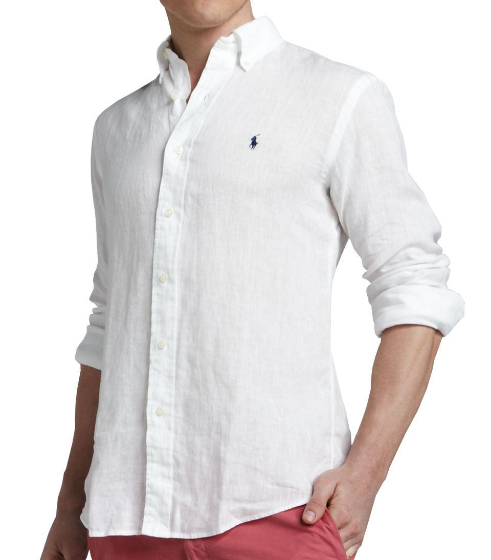 Camisa Social Linho RL Branca