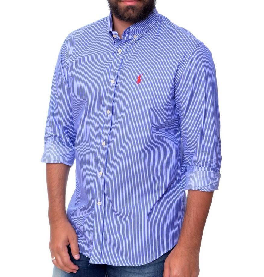 Camisa Social Listrada RL Stripes RA Blue - Regular Fit