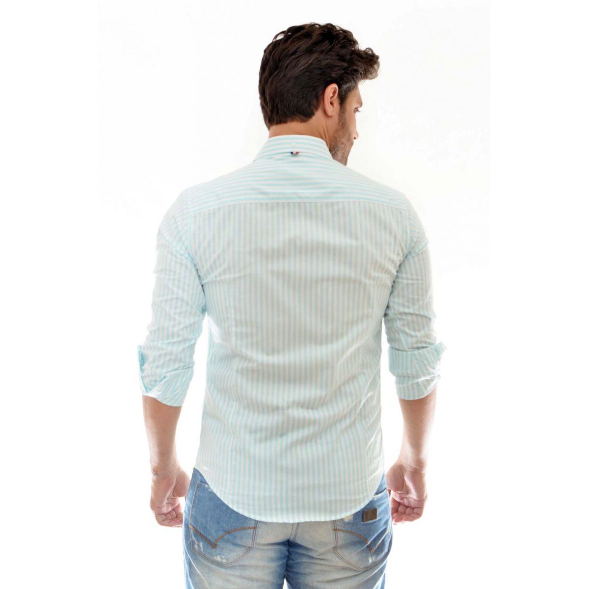 Camisa Social SK Listrada Verde   - Ca Brasileira