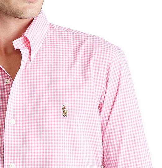 Camisa Social Mini Xadrez RL Rosa - Color