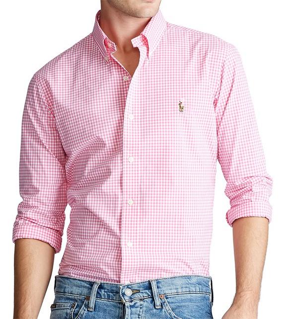 Camisa Social Mini Xadrez RL Rosa - Color  - Ca Brasileira