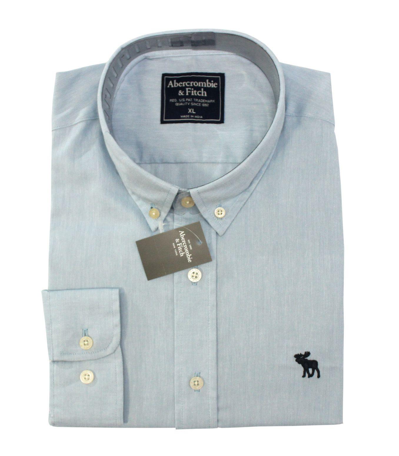 Camisa Social Oxford Azul Claro ABR