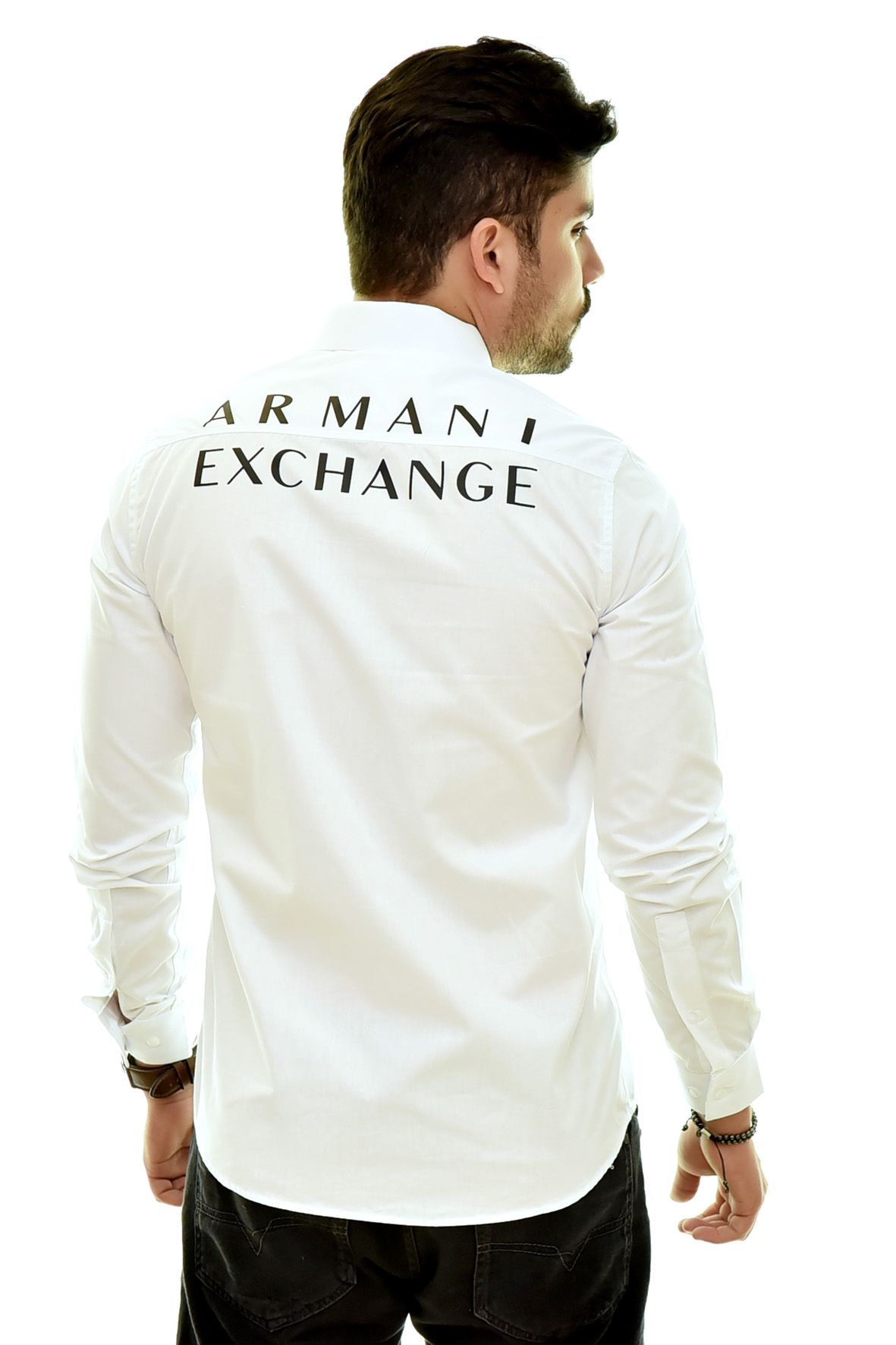 Camisa Social Print Branca