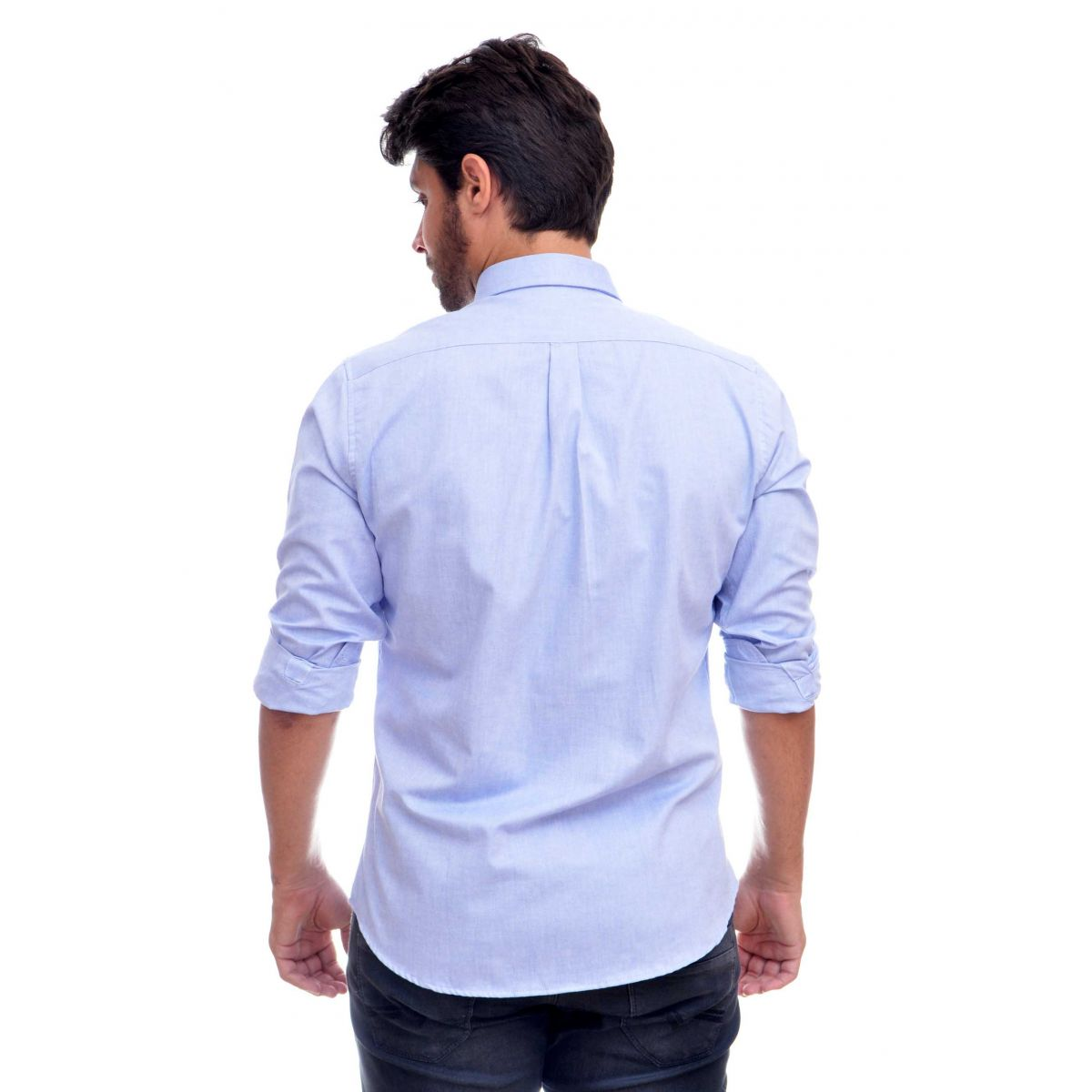 Camisa Social Oxford RL  Azul Claro  - Regular Fit  - Ca Brasileira