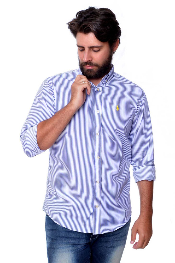 Camisa Social RL Listras A/B Stripes - Regular Fit