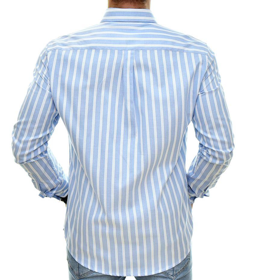 Camisa Social RL Oxford Listras - Custom Fit  - Ca Brasileira