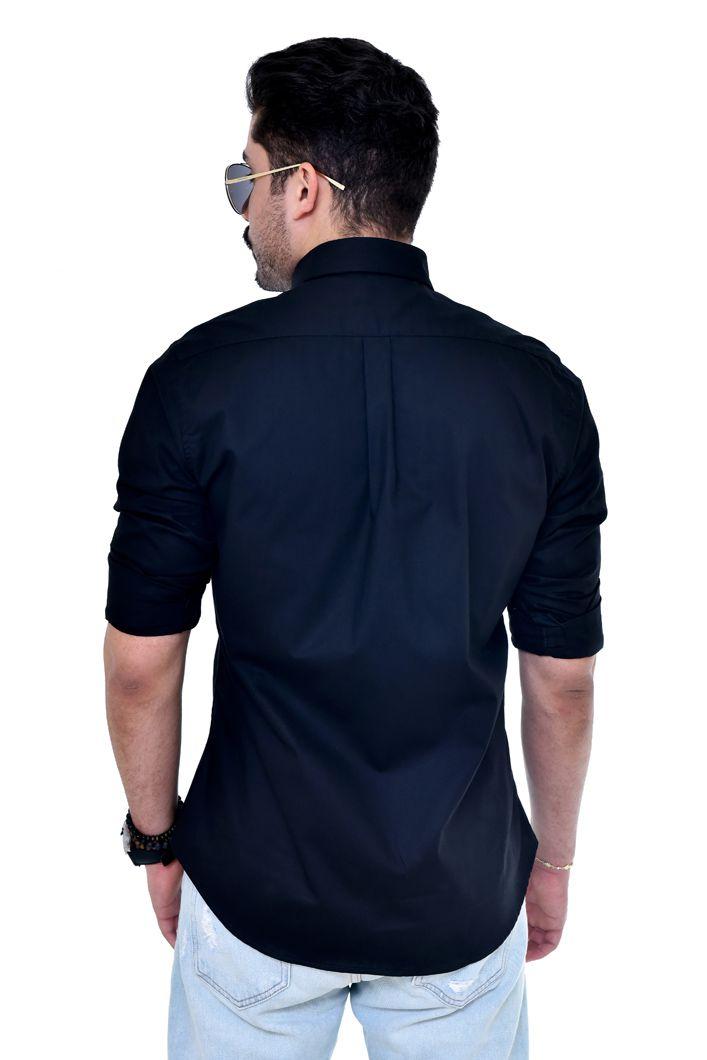 Camisa Social RL  Preta Colored - Custom Fit  - Ca Brasileira
