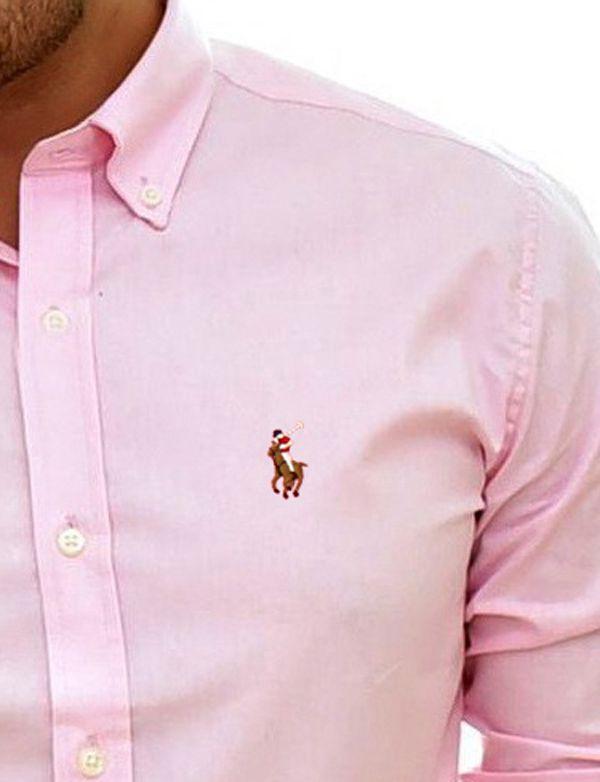 Camisa Social RL Rosa Bebe - Colored  - Ca Brasileira