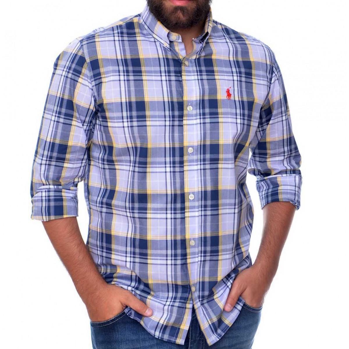 Camisa Social RL Xadrez AZ - Regular Fit