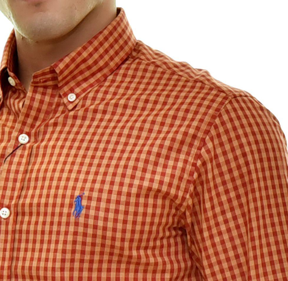 Camisa Social RL Xadrez logo Azul - Custom Fit  - Ca Brasileira