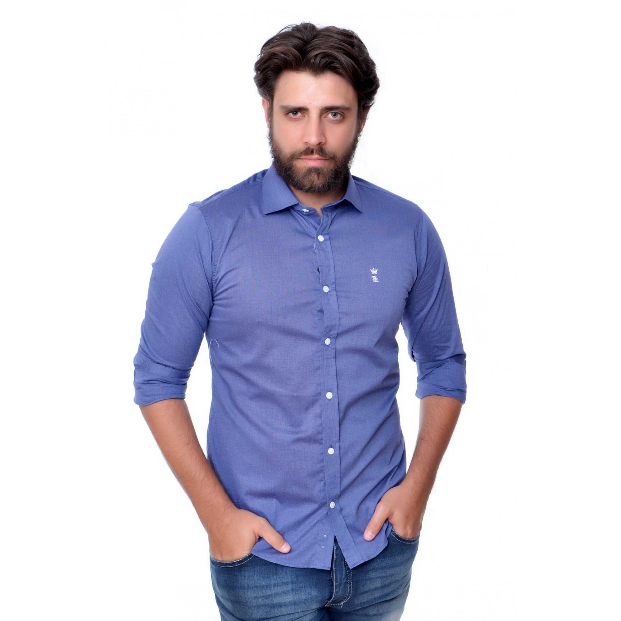 Camisa Social SK Marinho W  - Ca Brasileira