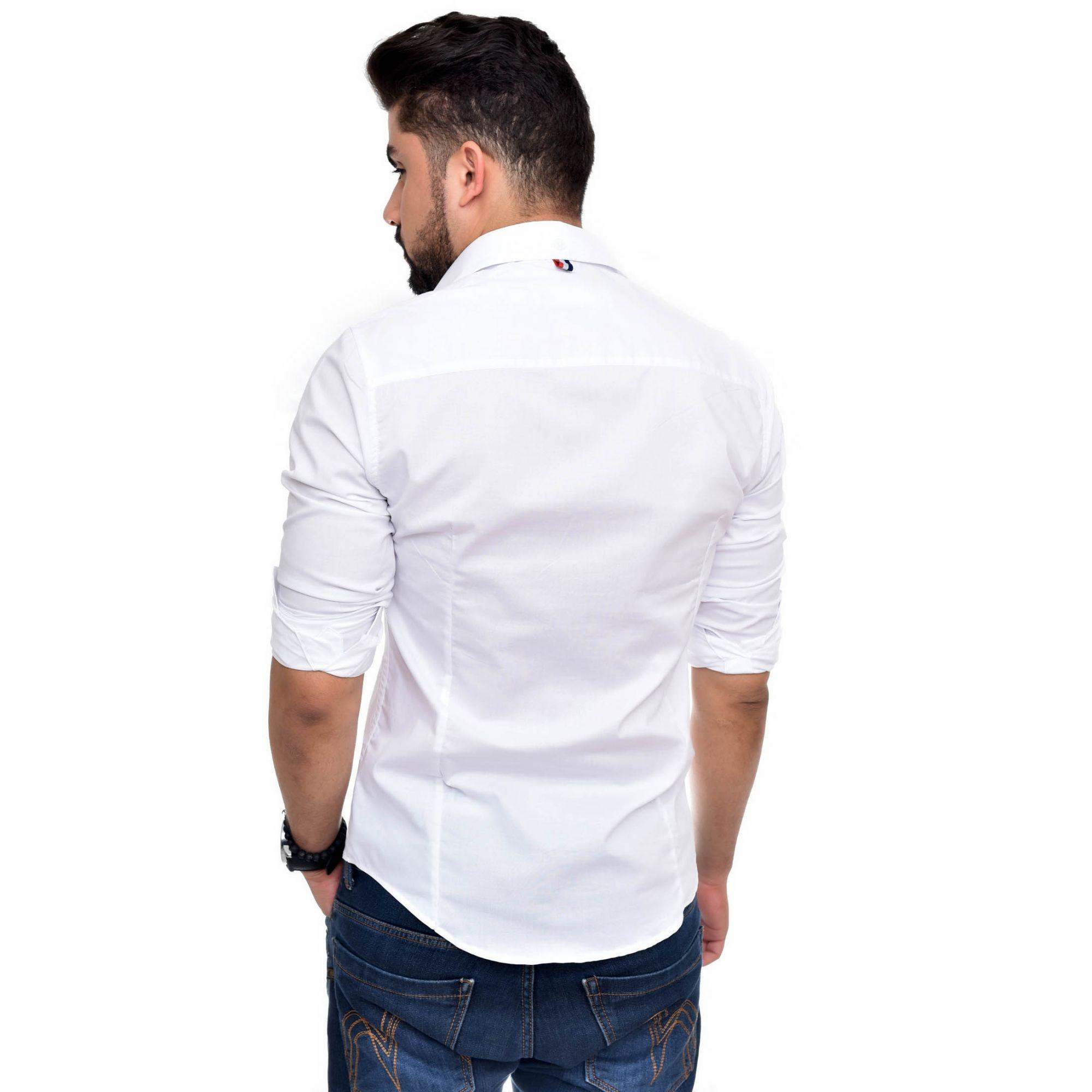 Camisa Social SK Style Branca  - Ca Brasileira