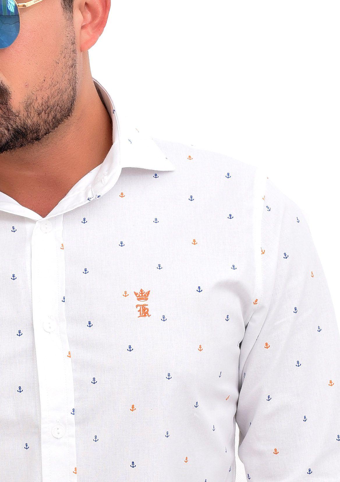 Camisa Social SK Anchors branca