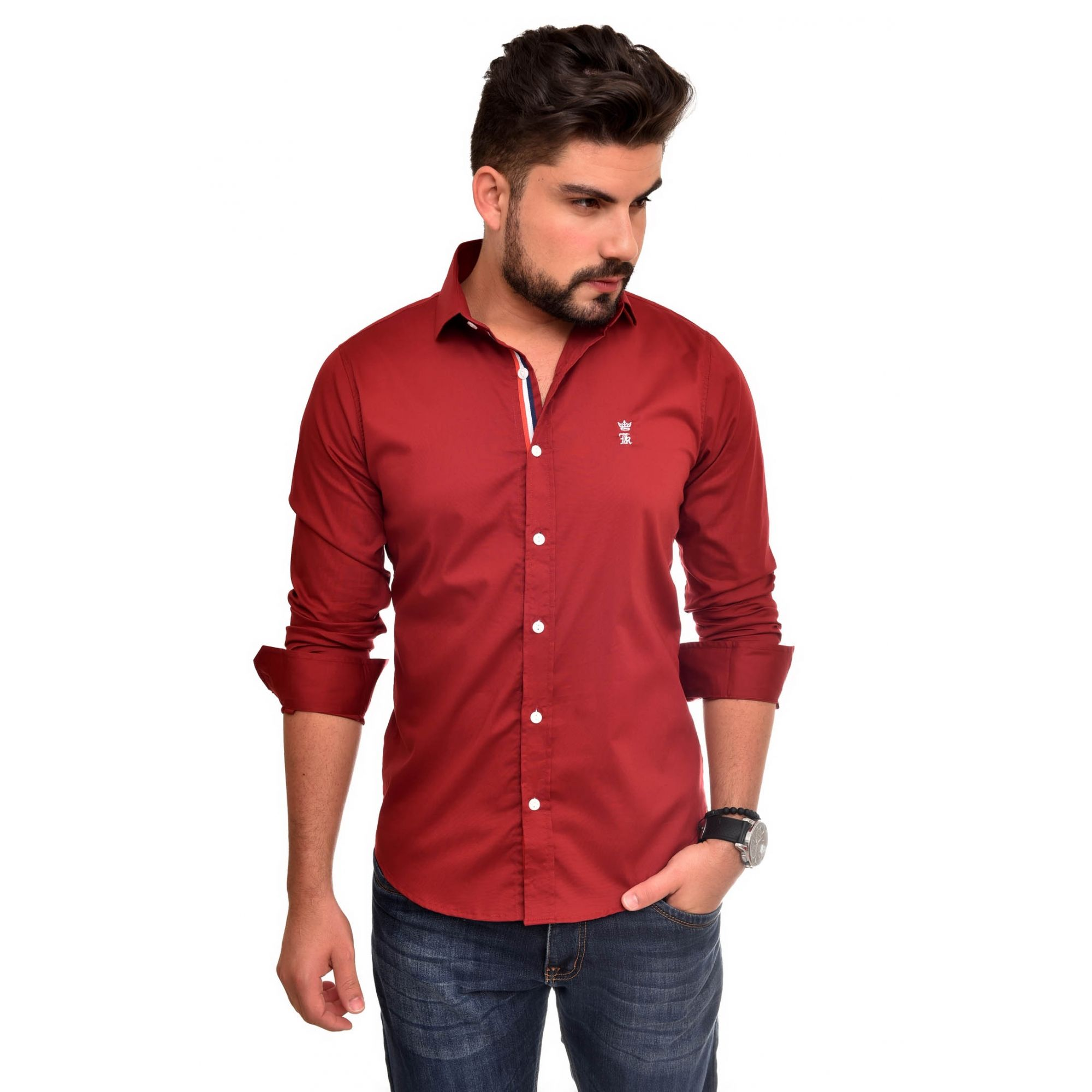 Camisa Social SK Style Bordo   - Ca Brasileira